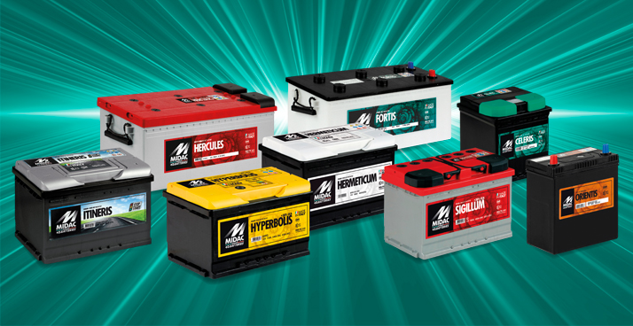 Starter batteries for cars, trucks, light transport vehicles, buses, agricultural vehicles and motorcycles. Pb/Ca technology.