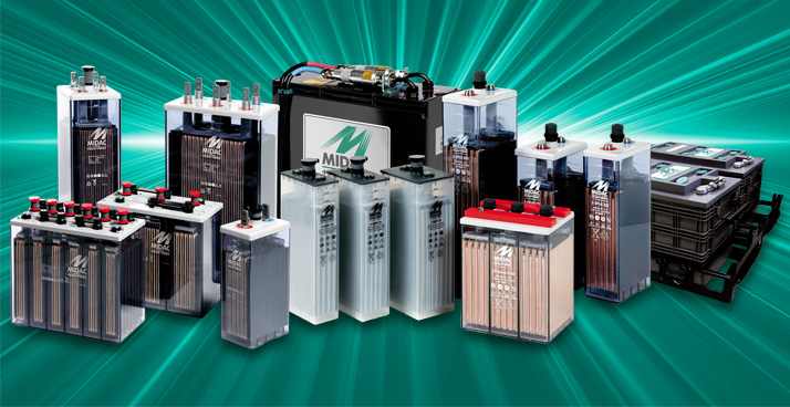Special batteries for Satellite Antennas, Telecommunications Devices, Solar Panels, UPS Units, Emergency and alarm systems, Railways