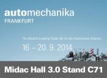 Midac in Frankfurt Automechanika 2014
